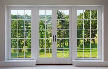 Pvc windows and double doors